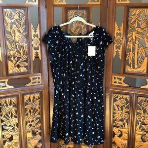 Lauren Conrad Black&White Floral Dress Size XXL